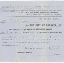 Image of Digital image: Assessment for Sewer in Bloomfield Street, December 31, 1859. - Form