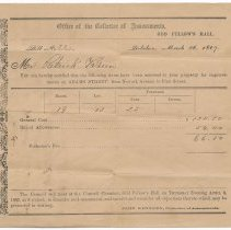 Image of Digital image: Assessment for Improvements on Adams Street between Newark & First Sts., March 26, 1867. - Form