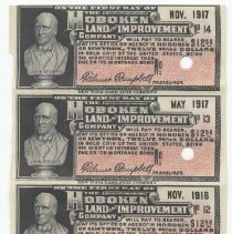 Image of Digital image: block of coupons numbered 9-14 from a Hoboken Land and Improvement Company mortage bond. - Bond