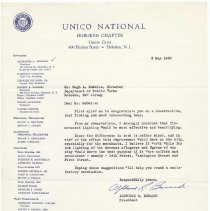 Image of Digital image: letter to Hugh A. McGuire, Dept. of Public Works, Hoboken from UNICO, Hoboken Chapter, May 2, 1960. - Letter