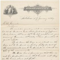 Image of Digital image, document: Letter by Mayor Edwin J. Kerr to City Council re assessment rebates on certain Coster lots, Hoboken, Jan. 15, 1887. - Documents