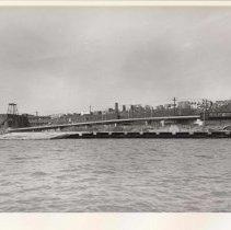 Image of Digital image of B+W photo of the Hoboken waterfront, Hoboken, circa 1987. - Print, Photographic
