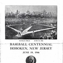 Image of Digital images, program: Baseball Centennial Hoboken, New Jersey, June 19, 1946. - Program