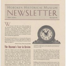 Image of Hoboken Historical Museum Newsletter [Second Series], Volume 1, Number 1, March - April 1995. - Periodical