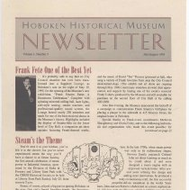 Image of Hoboken Historical Museum Newsletter [Second Series], Volume 1, Number 3, July - August 1995. - Periodical