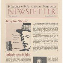 Image of Hoboken Historical Museum Newsletter [Second Series], Volume 1, Number 5, November - December 1995. - Periodical