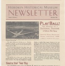 Image of Hoboken Historical Museum Newsletter [Second Series], Volume 2, Number 2, May - June 1996 - Periodical