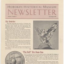 Image of Hoboken Historical Museum Newsletter [Second Series], Volume 2, Number 3, July - August 1996 - Periodical