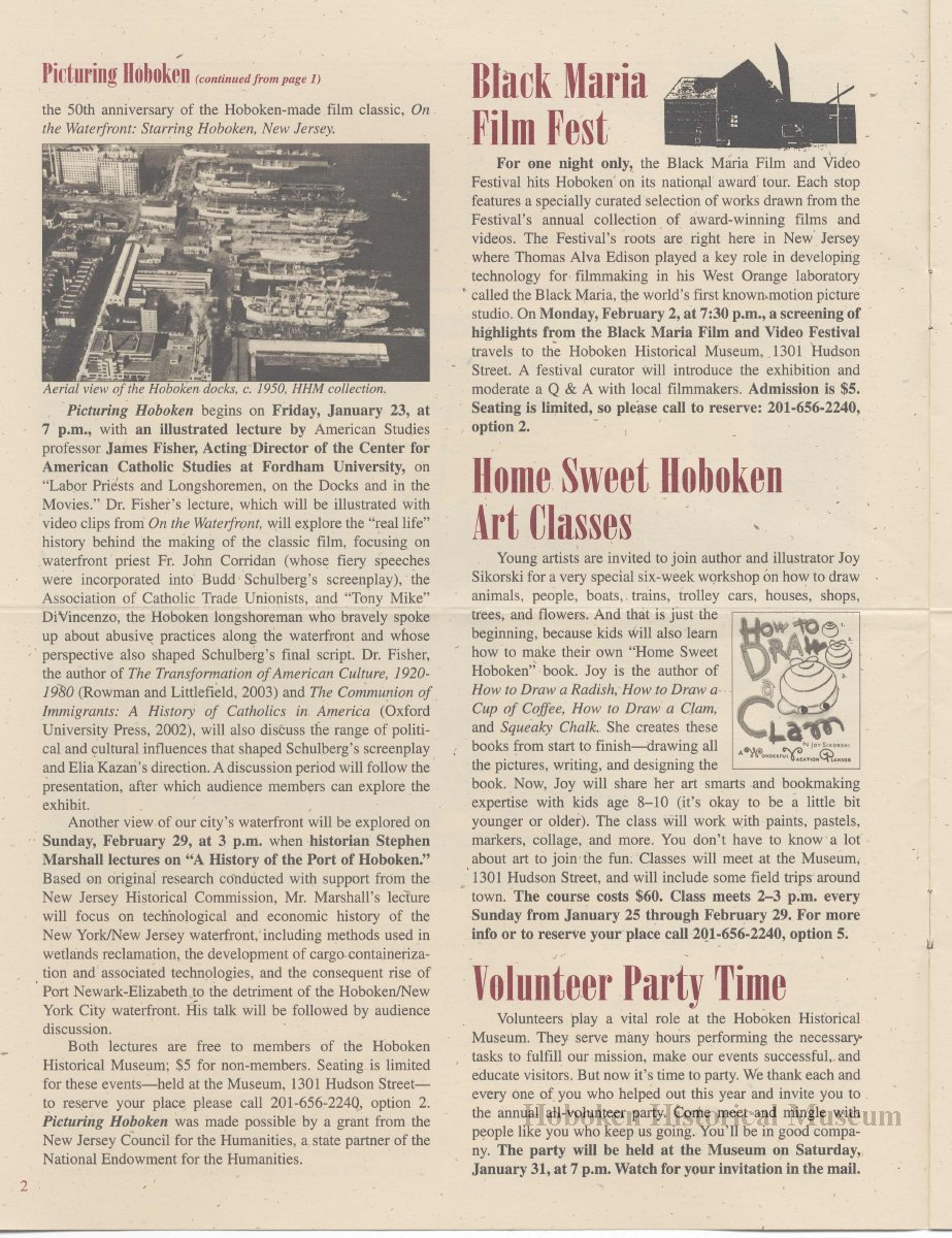 hoboken historical museum newsletter second series volume 10 title hoboken historical