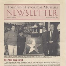 Image of Hoboken Historical Museum Newsletter [Second Series], Volume 2, Number 5, November - December 1996 - Periodical