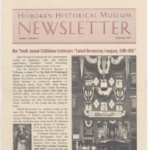 Image of Hoboken Historical Museum Newsletter [Second Series], Volume 3, Number 2, May - June 1997 - Periodical
