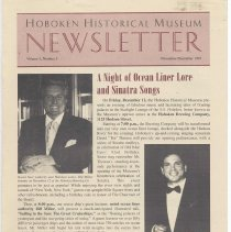 Image of Hoboken Historical Museum Newsletter [Second Series], Volume 3, Number 5, November - December 1997 - Periodical
