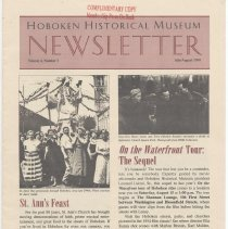 Image of Hoboken Historical Museum Newsletter [Second Series], Volume 4, Number 3, July - August 1998 - Periodical