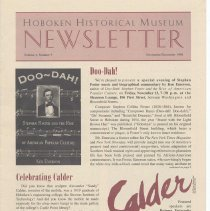 Image of Hoboken Historical Museum Newsletter [Second Series], Volume 4, Number 5, November - December 1998 - Periodical