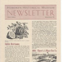Image of Hoboken Historical Museum Newsletter [Second Series], Volume 4, Number 6, January - February 1999 - Periodical