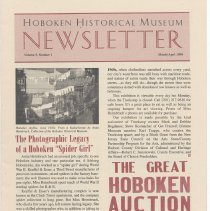 Image of Hoboken Historical Museum Newsletter [Second Series], Volume 5, Number 1, March - April 1999 - Periodical