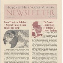 Image of Hoboken Historical Museum Newsletter [Second Series], Volume 5, Number 2, May - June 1999 - Periodical