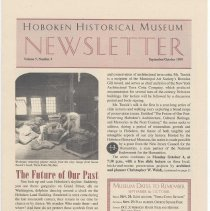 Image of Hoboken Historical Museum Newsletter [Second Series], Volume 5, Number 4, September - October 1999 - Periodical