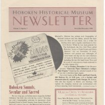 Image of Hoboken Historical Museum Newsletter [Second Series], Volume 5, Number 5, November - December 1999 - Periodical