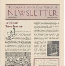 Image of Hoboken Historical Museum Newsletter [Second Series], Volume 5, Number 6, January - February 2000 - Periodical