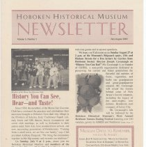 Image of Hoboken Historical Museum Newsletter [Second Series], Volume 6, Number 3, July - August 2000 - Periodical