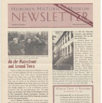 Image of Hoboken Historical Museum Newsletter [Second Series], Volume 6, Number 4, September - October 2000 - Periodical