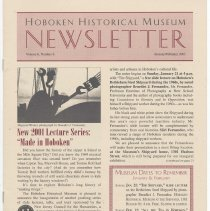 Image of Hoboken Historical Museum Newsletter [Second Series], Volume 6, Number 6, January - February 2001 - Periodical