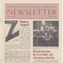 Image of Hoboken Historical Museum Newsletter [Second Series], Volume 7, Number 1, March - April 2001 - Periodical