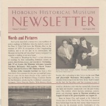 Image of Hoboken Historical Museum Newsletter [Second Series], Volume 7, Number 3, July - August 2001 - Periodical