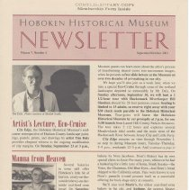 Image of Hoboken Historical Museum Newsletter [Second Series], Volume 7, Number 4, September - October 2001 - Periodical