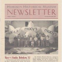Image of Hoboken Historical Museum Newsletter [Second Series], Volume 7, Number 5, November - December 2001 - Periodical