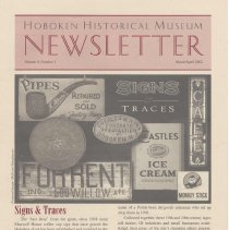Image of Hoboken Historical Museum Newsletter [Second Series], Volume 8, Number 1, March - April 2002 - Periodical