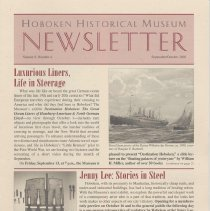 Image of Hoboken Historical Museum Newsletter [Second Series], Volume 8, Number 4, September - October 2002 - Periodical