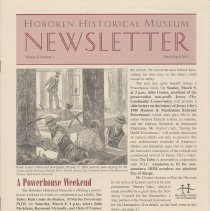 Image of Hoboken Historical Museum Newsletter [Second Series], Volume 9, Number 1, March - April 2003 - Periodical