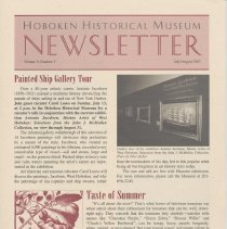 Image of Hoboken Historical Museum Newsletter [Second Series], Volume 9, Number 3, July - August 2003 - Periodical