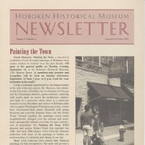 Image of Hoboken Historical Museum Newsletter [Second Series], Volume 9, Number 4, September - October 2003 - Periodical