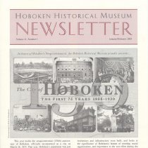 Image of Hoboken Historical Museum Newsletter [Second Series], Volume 11, Number 1, January - February 2005 - Periodical