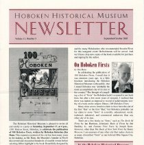Image of Hoboken Historical Museum Newsletter [Second Series], Volume 11, Number 5, September-October 2005 - Periodical