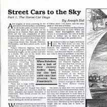 Image of pg 10 Street Cars; Part I, The Horse Car Days