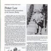 Image of pg 3 Peter Lee, Stevens family servant
