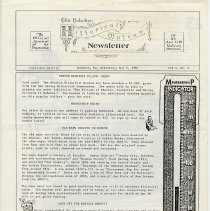 Image of Hoboken Historical Museum Newsletter [First Series], Volume 1, No. 4, May 6, 1987. - Periodical