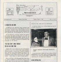 Image of Hoboken Historical Museum Newsletter [First Series], Volume 2, No. 14, March 1, 1988. - Periodical