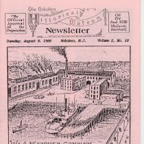 Image of Hoboken Historical Museum Newsletter [First Series], Volume 2, No. 18, August 9, 1988. - Periodical