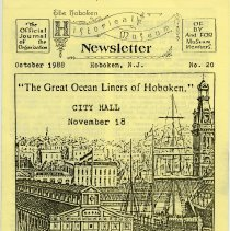 Image of Hoboken Historical Museum Newsletter [First Series], Volume 2, No. 20, October, 1988. - Periodical