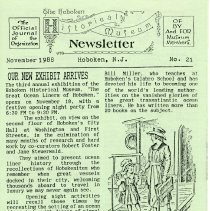 Image of Hoboken Historical Museum Newsletter [First Series], Volume 2, No. 21, November, 1988. - Periodical