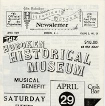 Image of Hoboken Historical Museum Newsletter [First Series], Volume 2, No. 26, April, 1989. - Periodical