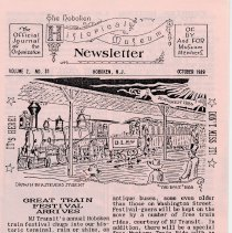 Image of Hoboken Historical Museum Newsletter [First Series], Volume 2, No. 31, October,1989. - Periodical