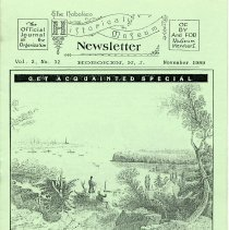 Image of Hoboken Historical Museum Newsletter [First Series], Volume 2, No. 32, November, 1989. - Periodical