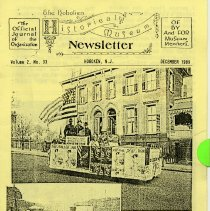 Image of Hoboken Historical Museum Newsletter [First Series], Volume 2, No. 33, December, 1989. - Periodical