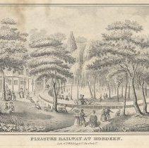 Image of Print: Pleasure Railway at Hoboken. No place, no date, circa 1840. - Print